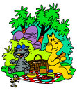 Picnic Cats Stock Images