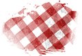 Picnic cloth red with some squares in it Royalty Free Stock Photography