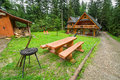 Picnic in the forest of tatra mountains poland Royalty Free Stock Photos