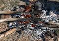 Picnic on mountains Royalty Free Stock Photo