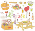 Picnic set Royalty Free Stock Photos