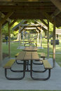 Picnic Shelters in a Row Stock Photography