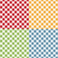 Picnic table cloth seamless pattern set. Picnic plaid texture Royalty Free Stock Photo