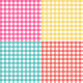 Picnic table cloth seamless pattern set. Picnic plaid texture Royalty Free Stock Photo
