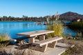 Picnic Table At Lake Murray Wi...