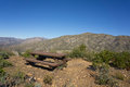 Picnic Table in Mountains Royalty Free Stock Photo