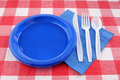 Picnic table setting Royalty Free Stock Images