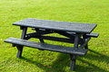 Picnic table wooden in a park Stock Photography