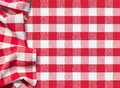 Picnic tablecloth checkered red background textured Royalty Free Stock Photo