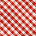 Picnic tablecloth seamless checkered pattern in red and white tones. Vector image Royalty Free Stock Photo