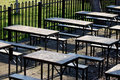 Picnic tables Royalty Free Stock Photo