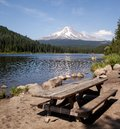Picnic at Trillium Lake Royalty Free Stock Photo