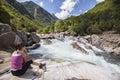 Picnic at valley riverside