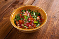 Pico de gallo in mexican cuisine also called salsa fresca Stock Photo
