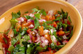 Pico de gallo in mexican cuisine also called salsa fresca Royalty Free Stock Photos