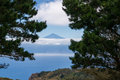 Pico del teide view to the from la gomera over a sea of clouds Royalty Free Stock Images