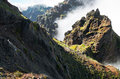 Pico do Areeiro mountain trail, Madeira Royalty Free Stock Photo