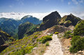 Pico do Areeiro mountain trek, Madeira Stock Image