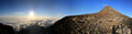 Pico Sunrize Panorama Royalty Free Stock Photos