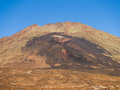 Pico viejo craters of volcano at the island of tenerife Stock Photo
