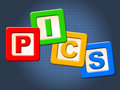 Pics Kids Blocks Shows Child Images And Youngster Royalty Free Stock Photo