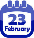 Pictogram 23 Februari kalender Stock Foto