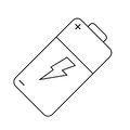 Pictogram battery charge alkaline lighting