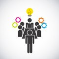 Pictogram bulb gears icon. Businesspeople design. Vector