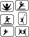 Pictogram of expressive arts Royalty Free Stock Image