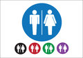 Pictogram Man Woman Sign icons, toilet sign or restroom icon Royalty Free Stock Photo