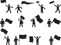 Pictogram People Carrying Flags