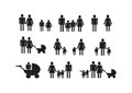Pictograms people man icon sign symbol pictogram Stock Images