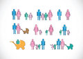 Pictograms people man icon sign symbol pictogram Royalty Free Stock Photography