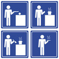 Pictograph - cooking, male Stock Photos