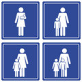 Pictograph; Family - single mom Stock Photos