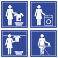 Pictograph - Laundry Royalty Free Stock Photo
