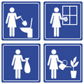 Pictograph - various chores Royalty Free Stock Photography