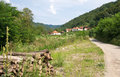 Pictorial landscape of mountain country road, Serbia Royalty Free Stock Photo