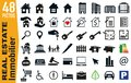 Signage pictograms for the housing and real estate sector Royalty Free Stock Photo