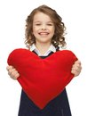 Picture beautiful girl big heart Stock Photography