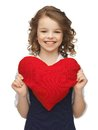 Girl with big heart Royalty Free Stock Photo