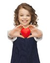Picture beautiful girl small heart Stock Photos