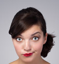 Picture of a beautiful woman's face Royalty Free Stock Image