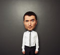 Picture of bighead man Royalty Free Stock Photo