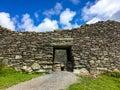 Cahergal Stone fort County Kerry Ireland Royalty Free Stock Photo