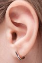 Picture of the child's ear Royalty Free Stock Images