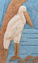 Picture of egret made from rice seed. Stock Photos
