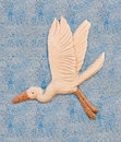 Picture of egret made from rice seed. Royalty Free Stock Images
