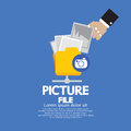 Picture file storage vector illustration eps Stock Photos