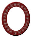 Picture Frame 3D Red Oval  Stock Photos